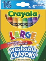 Crayola Large Washable Crayons-16/Pkg