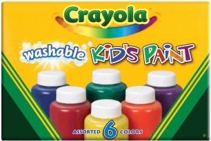 Crayola Washable Kid's Paint-6/Pkg