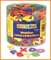 Chenille Kraft Company Wonderfoam Letters and Numbers, Approx 1500 Pieces, Assorted