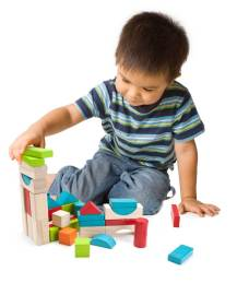 3 Years Old Build the Blocks
