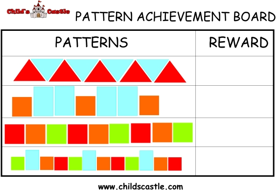 Building Toy Pattern Achievement Board
