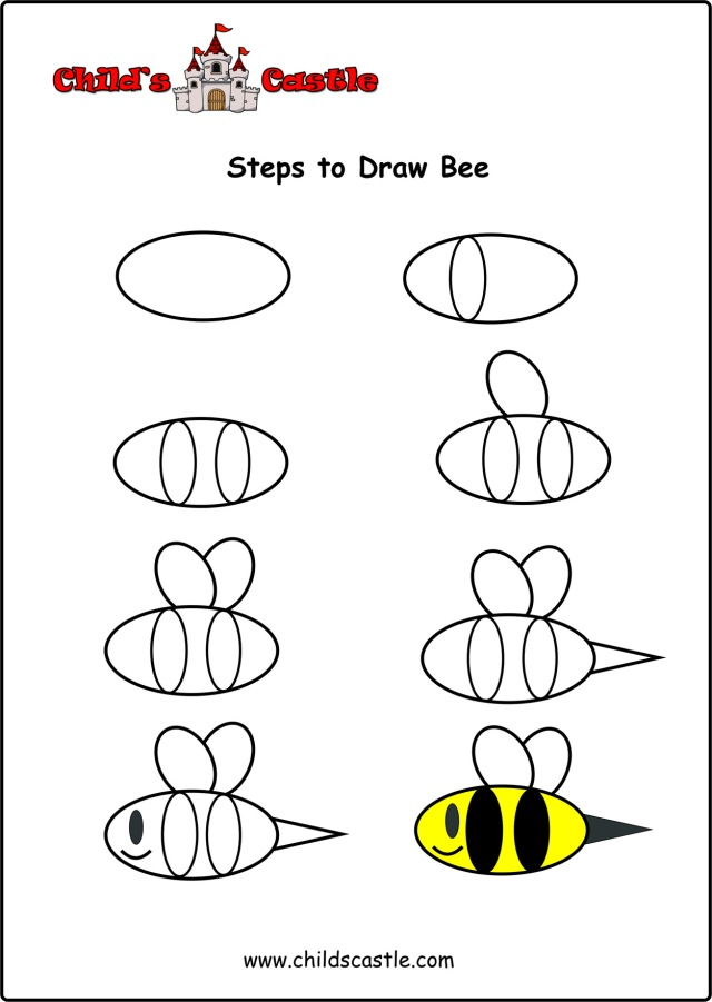 steps-to-draw-bee