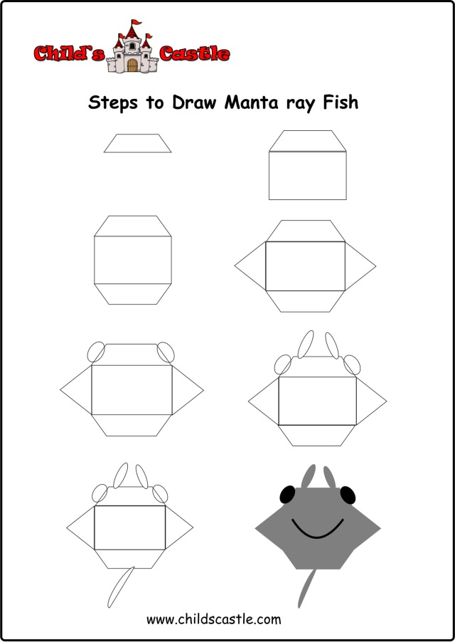 steps-to-draw-manta-ray-fish