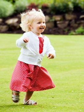 Toddler runs