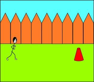 Running to Cone